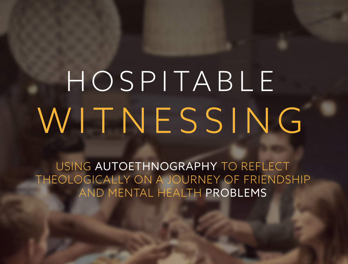 Hospitable Witnessing – A New Book